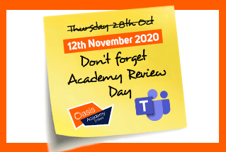 Academic Review Day, Wednesday 12th November 2020